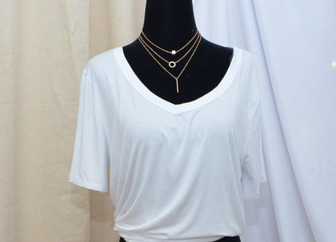 Let it Go 3 piece layered necklace (Worn gold)