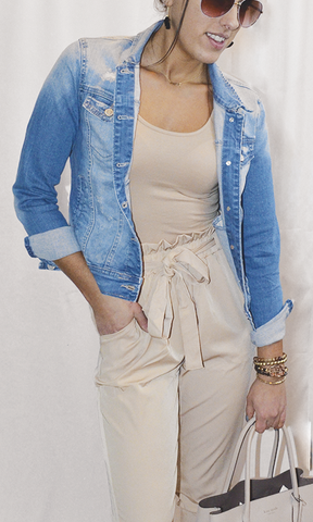 The Adria stone washed denim jacket