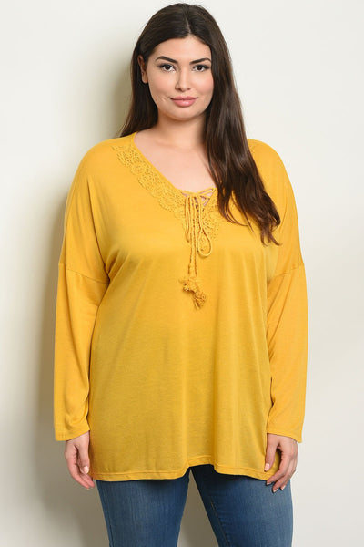 Mustard Plus Size Top