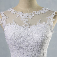 lace White Ivory A-Line Wedding Dresses for bride Dress gown Vintage plus size