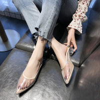 Women Sandals PVC Crystal Heel Transparent Women Sexy Clear High Heels Summer Sandals Pumps Shoes