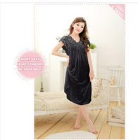 Free Shipping Women White Lace Sexy Nightdress Girls Plus Size Large Size Sleepwear