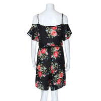 Women Plus Size Camisole Print Fashion Casual Short Sleeve Jumpsuit