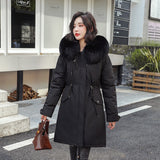 Winter Jacket Women Women Jacket Plus Velvet Women Winter Coat Fur Hooded Jackets Plus Size XXL Fashion Thick Long Coat Women