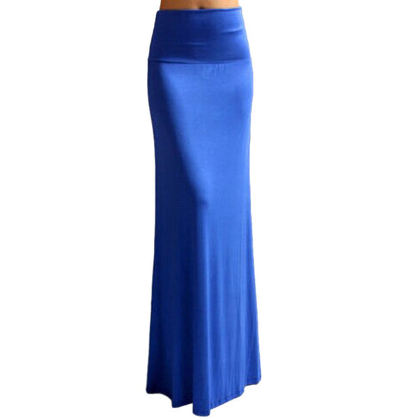Summer skirt women's Plus Size Floor-length Maxi Skirt Mermaid Gypsy Long Jersey Bodycon Maxi Skirt Ladies Skirt