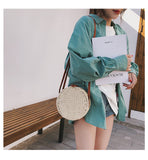 Women Summer Rattan Bag 2019 Round Straw Bags Handmade Woven Beach Cross Body Bag Circle Bohemia Handbag Bali Box
