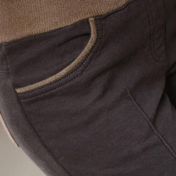 Pencil Pants Plus Size L-4XL Winter Warm Casual Women Cotton Pants Thick Panelled Stretch High Elastic Waist Ladies