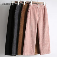 New Women's Harem Pants Autumn Winter Warm Corduroy High Waist Pants Plus Size Casual Pants Vintage Loose Trousers Female