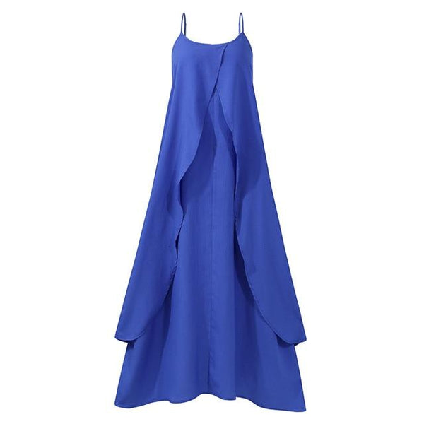 Summer Maxi Dress Women's Irregular Sundress Casual Sarafans Vestidos Female Sleeveless