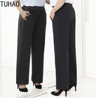 Plus Size 10XL 8XL 6XL 4XL Trousers Fashion Casual Loose Elastic Waist Women Pants Large Size Female Winter