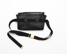 Load image into Gallery viewer, Black Ostrich Waist Bag