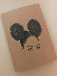 Rockin My Afro Puffs  Blank Note Card