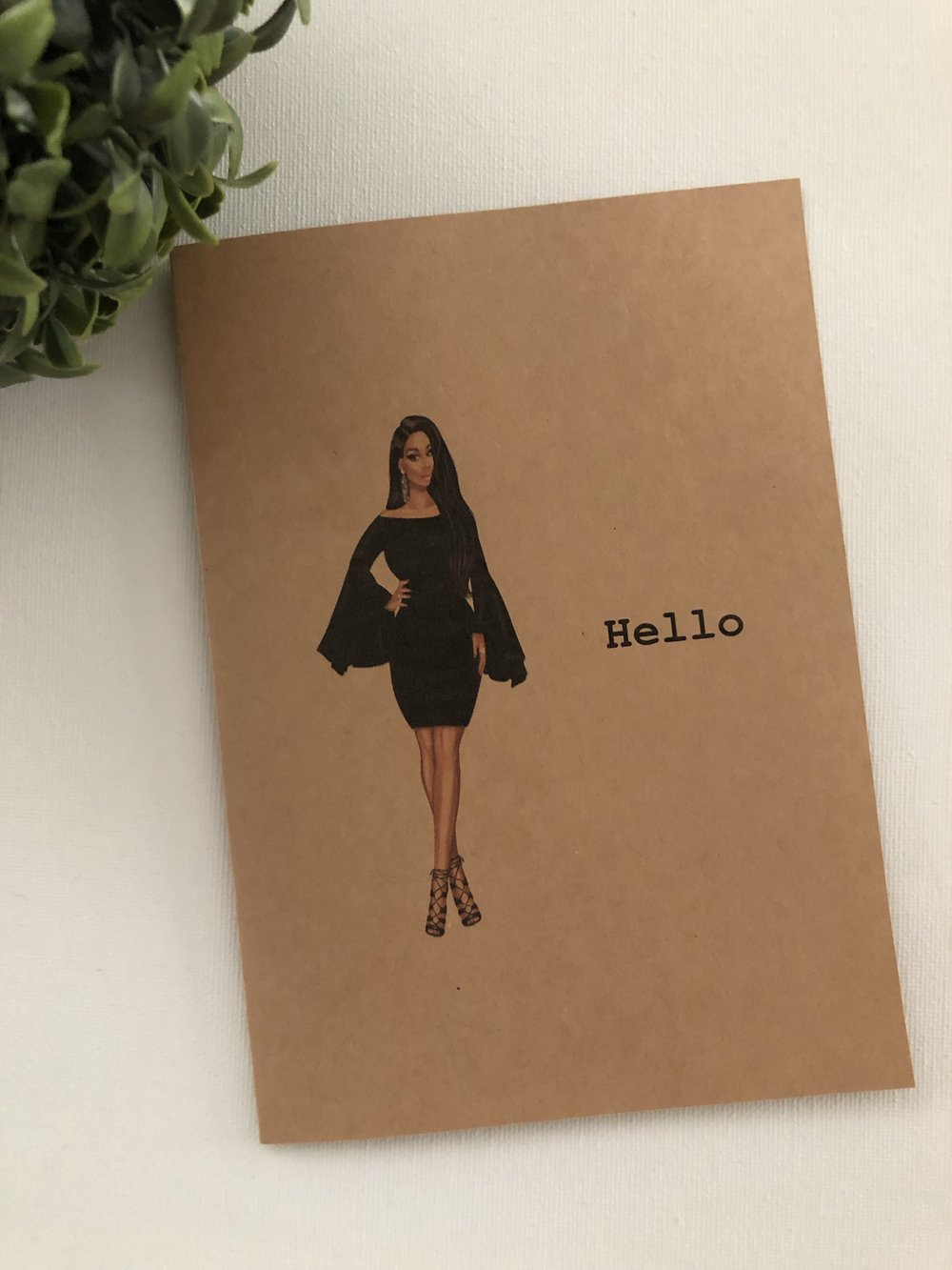 Hello Diva Blank Note Card