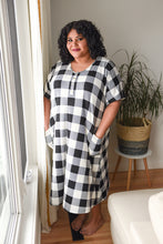 Load image into Gallery viewer, Buffalo Check Swing Dress (Brushed Poly fabric) | Loon and Bloom