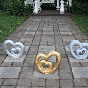 Nesting Hearts Garden Sculpture