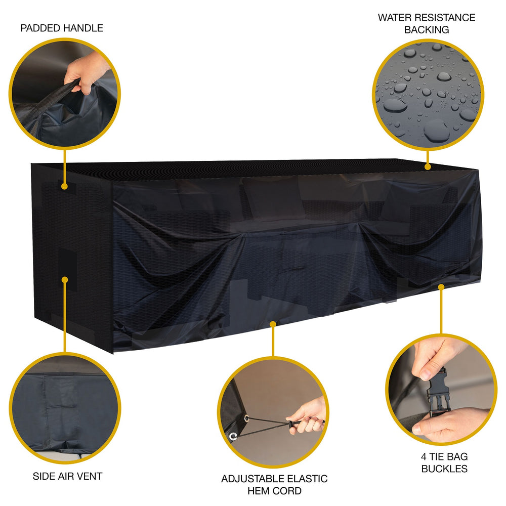 "Large Waterproof Outdoor Furniture Cover 126""X63""X28"""