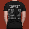 Incontinence Divide T-Shirt (with tour dates)
