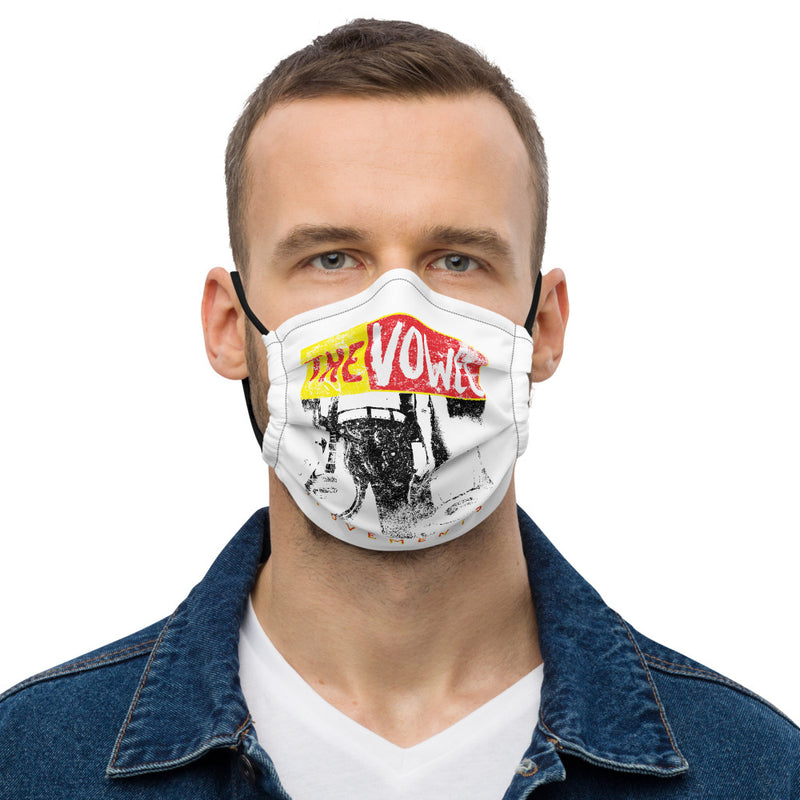The Vowel Movements Face Mask