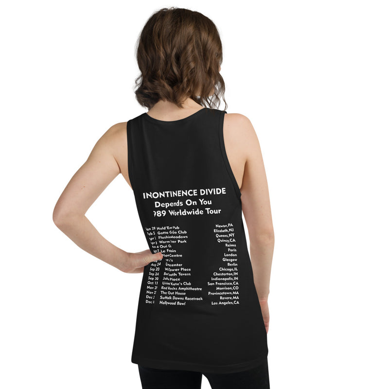 Incontinence Divide Tank Top