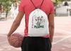 Fecal Plume Drawstring Bag
