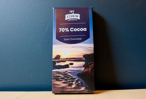 Kernow Chocolate 70% Cocoa Dark Chocolate