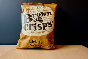 Brown Bag Crisps Lightly Salted