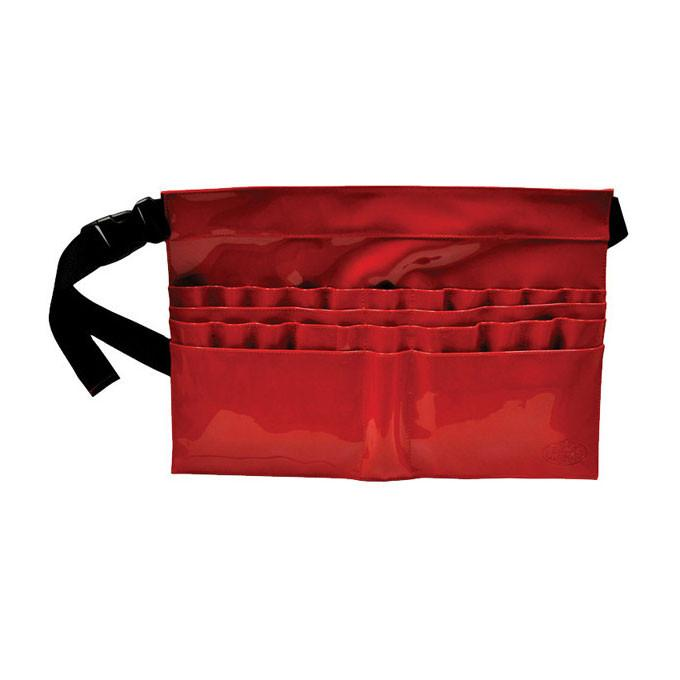 28-Compartment Red Brush Belt BBELT-3 - 28-Compartment Red Brush Belt