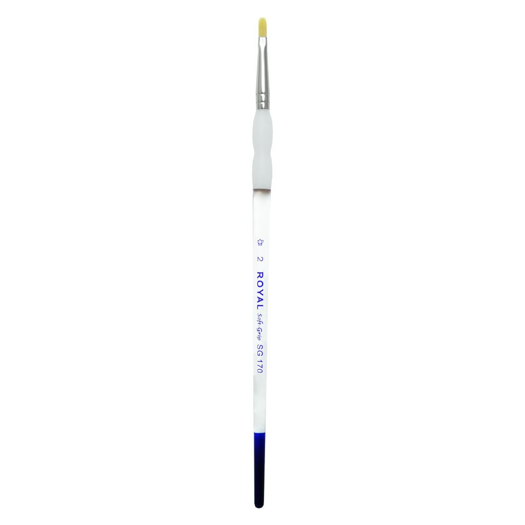 Soft Grip Gold Synthetic Filbert S2 Body Art/FX Brush