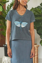 Load image into Gallery viewer, Dragonfly T-Shirt Indigo