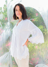 Load image into Gallery viewer, Bardot Pleat Shirt White