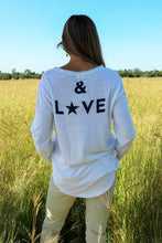 Load image into Gallery viewer, Peace & Love Long Tee White PRE-SALE