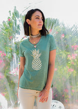 Load image into Gallery viewer, Pineapple T-Shirt Sage