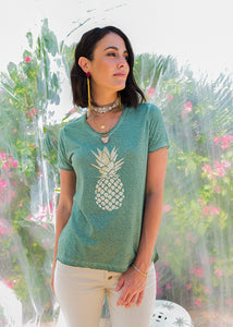Pineapple T-Shirt Sage