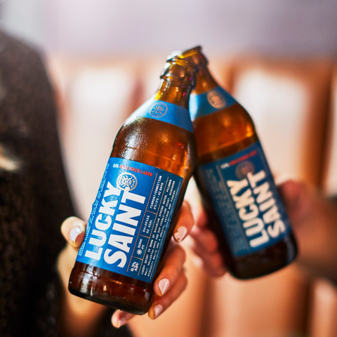 lucky saint alcohol free beer