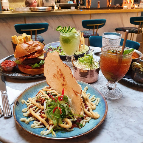 vegan food and alcohol free cocktails by redemption bar in london