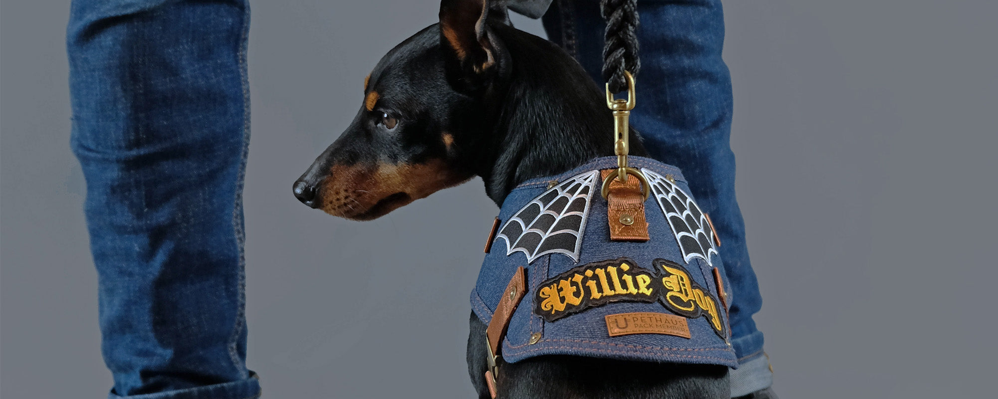 DOG HARNESS - DENIM DOG HARNESS
