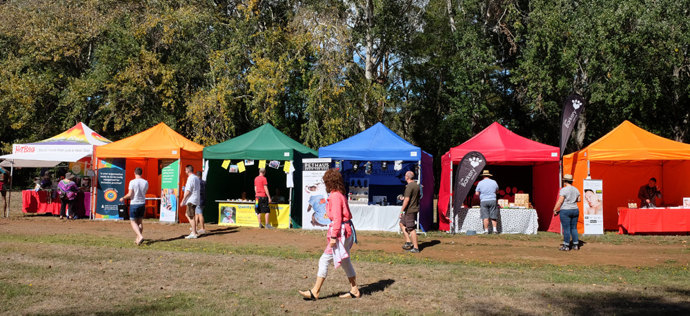 Rainbow stalls at Chillout festival