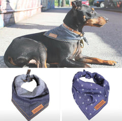 Dogapalooza denim dog bandanas
