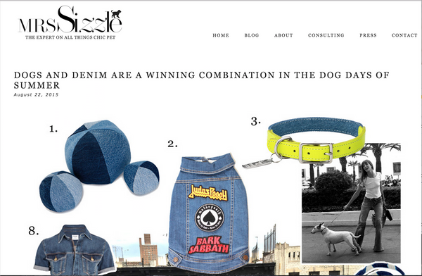 Mrs Sizzle Dog Denim Pethaus