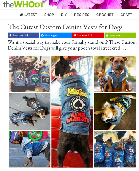 PETHAUS DENIM DOG VESTS