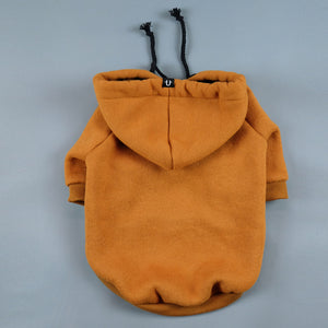 Tan dog hoodie by Pethaus Australia fits large and small dogs