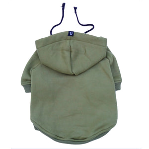 Army green dog hoodie by Pethaus Australia