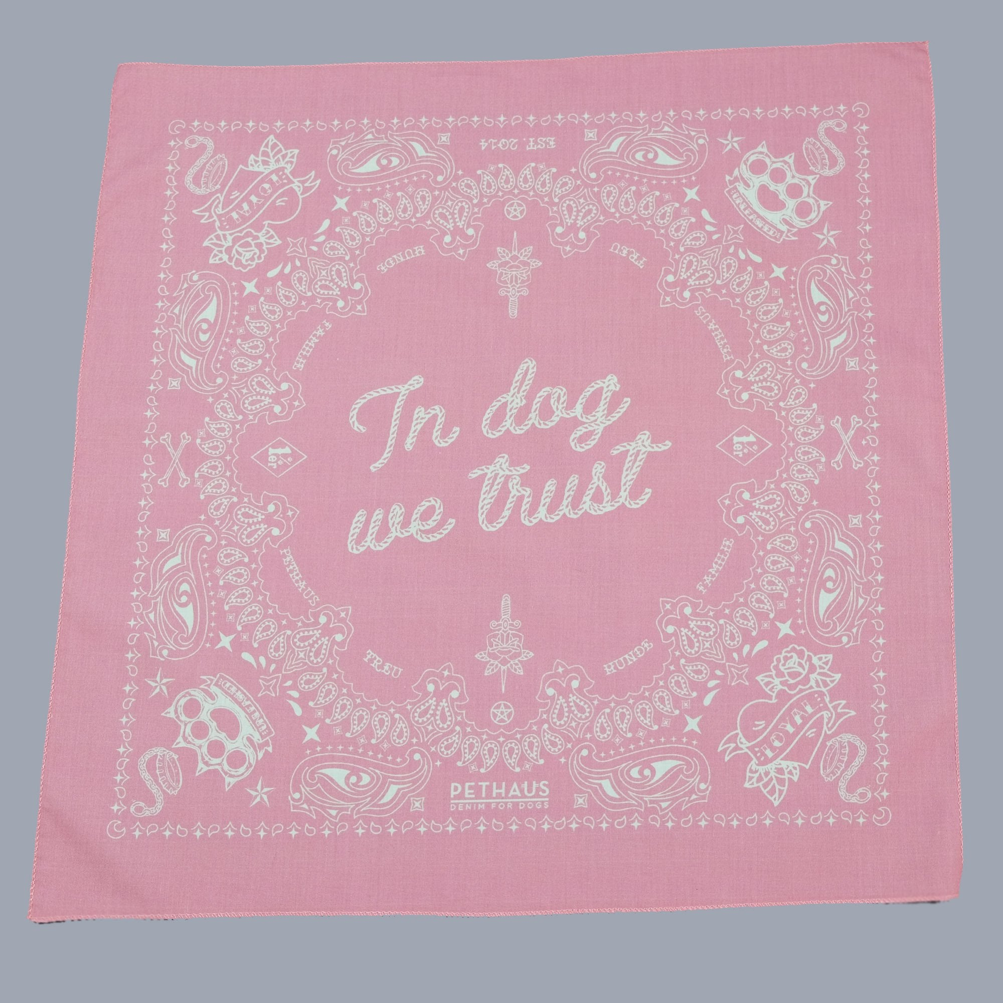 Pethaus Bandito Dog Bandana - Dusty Pink