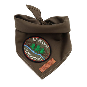 Scout dog bandana, army green dog bandana, khaki dog bandana, pethaus dog bandana