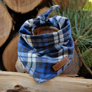 Blue flannel dog bandana, check dog bandana, blue dog bandana, dog gift, check dog bandana, plaid dog bandana, hipster dog bandana, cool dog bandana,dog bandana australia, pethaus