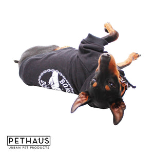 Dog Clothing - Bones Dog Hoodie - Black