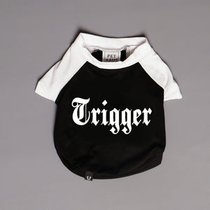 Dog Tee, Personalised dog tee, raglan dog tee, Pethaus