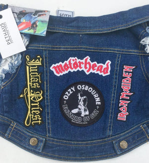 Denim dog vest, denim dog jacket, custom dog jacket