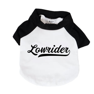 Lowrider Dog Tee,Personalised Raglan Dog Tee, customised dog tee, dog tee, dog gift, pethaus