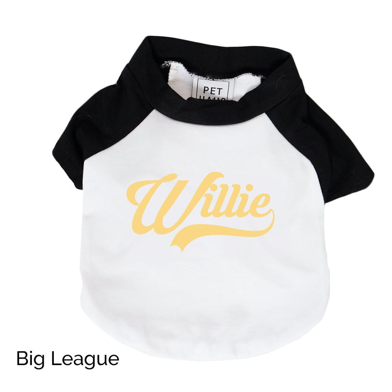 Custom Raglan Dog Tee - White